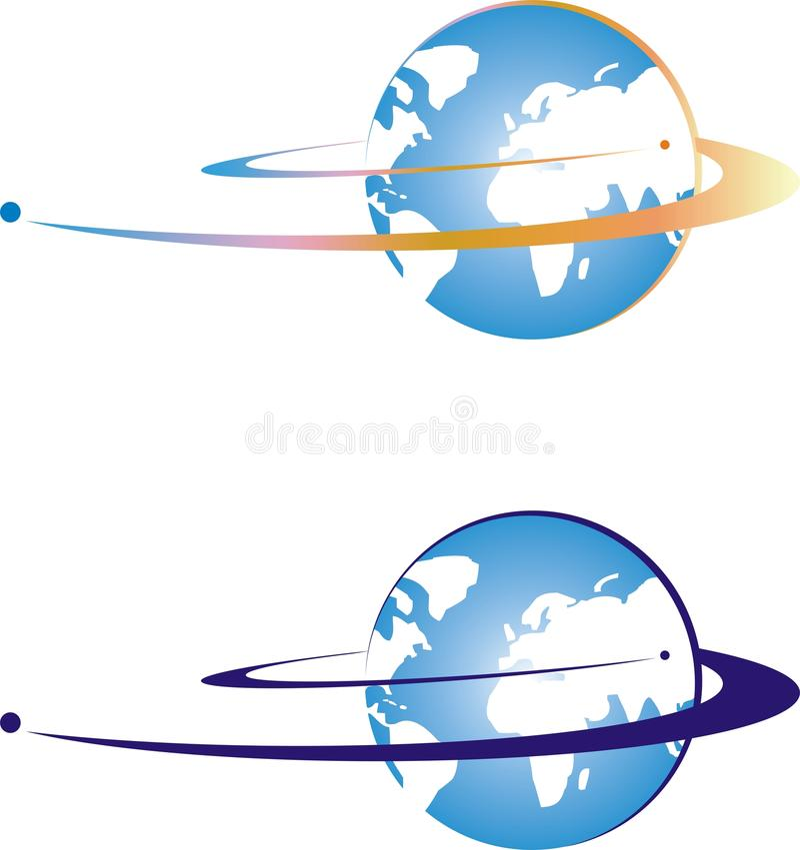 satellite in Earth orbit stock illustration