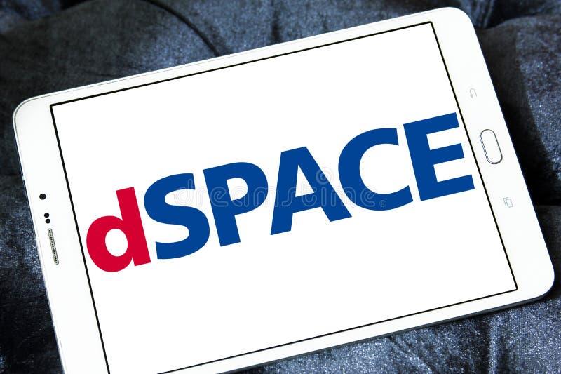 Logo Gmbh della società di DSPACE fotografia stock libera da diritti