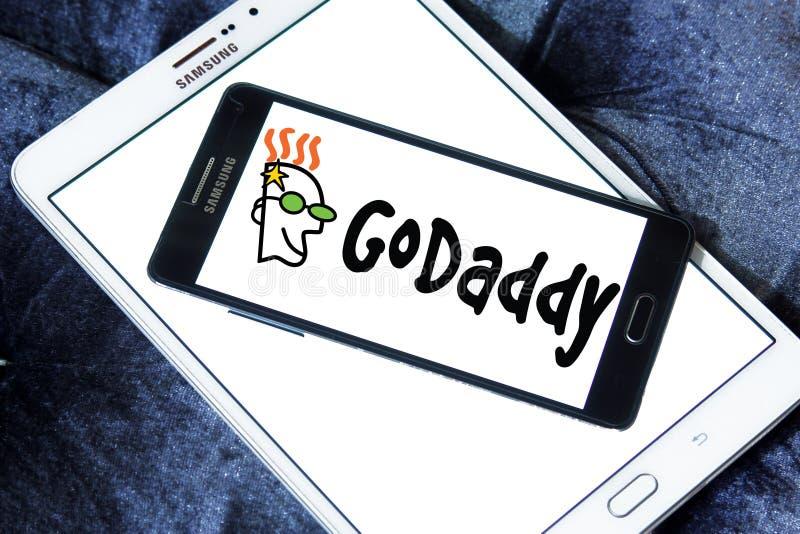 GoDaddy internet company logo. Logo of GoDaddy internet company on samsung mobile. GoDaddy Inc. is an American publicly traded Internet domain registrar and web royalty free stock image