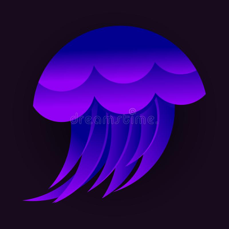 A logo with golden Ratio jellyfish royalty free illustration