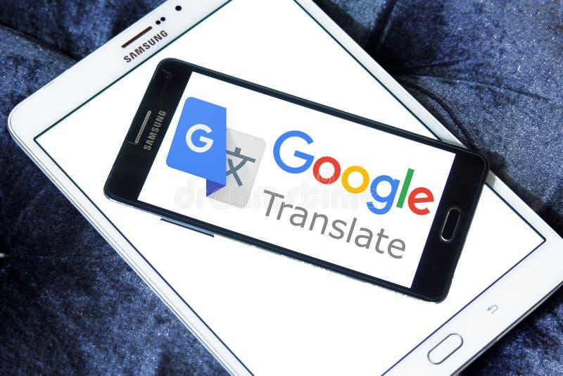 Google Translate logo. Logo of Google Translate on samsung mobile. Google Translate is a free multilingual machine translation service developed by Google, to royalty free stock photo