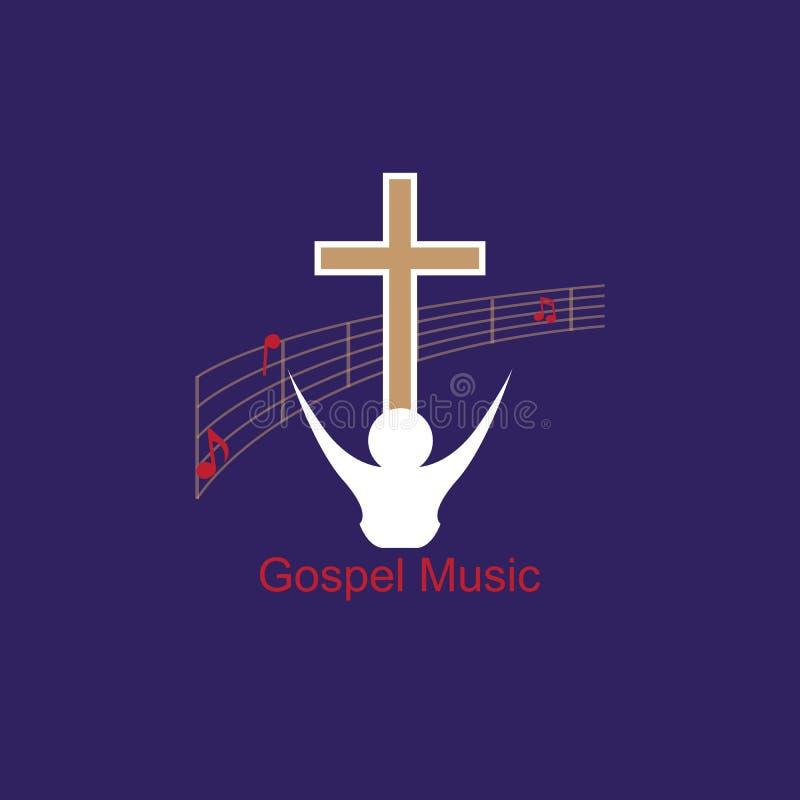Logo Gospel Music stock de ilustración