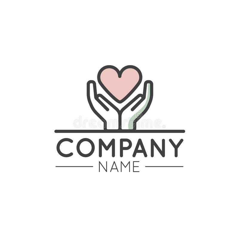 Logo Graphic Element for Nonprofit Organizations and Donation Centre. Vector Illustration Logo Graphic Element for Nonprofit Organizations and Donation Centre stock illustration