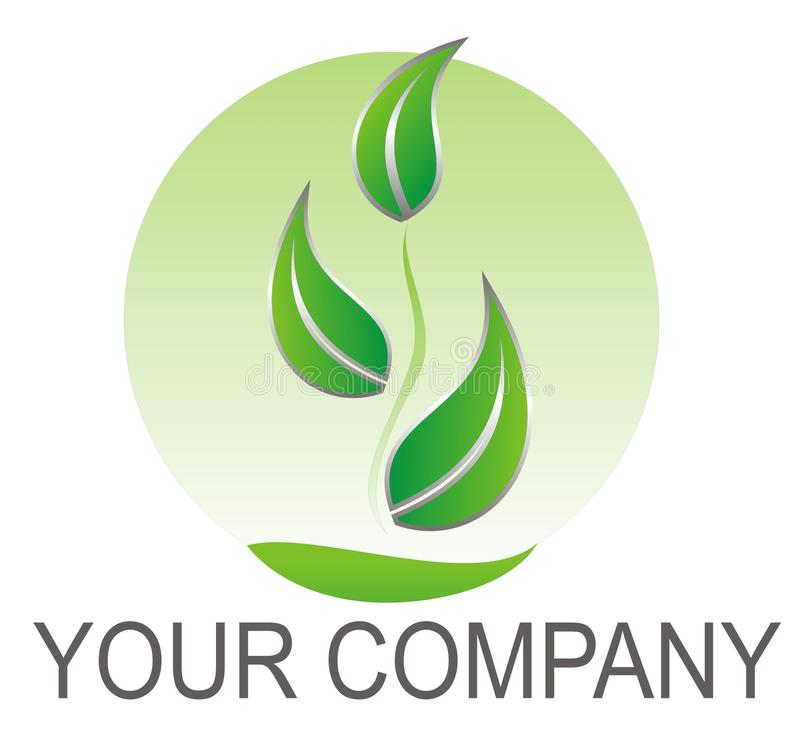 Logo green leaves stock illustration