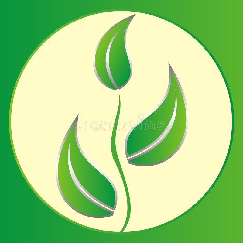 Download Logo Green Leaves Royalty Free Stock Photos - Image: 16741088