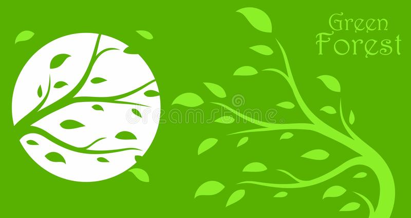Logo green wood. vector illustration