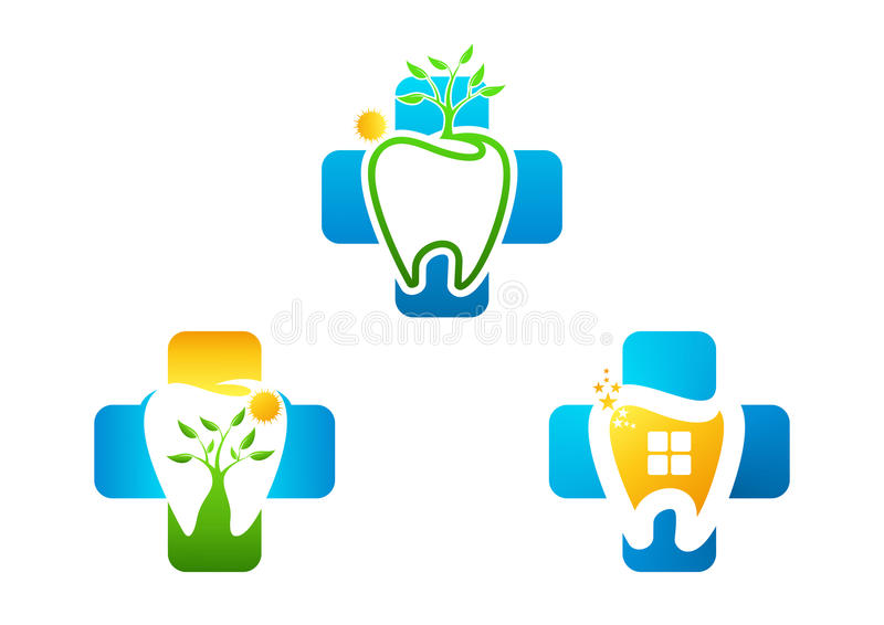 Logo grow healthy dental stock images