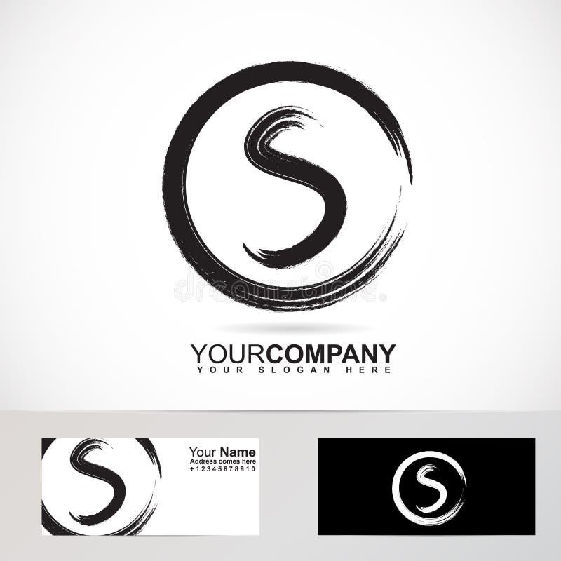 Logo grunge de cercle de la lettre S illustration stock