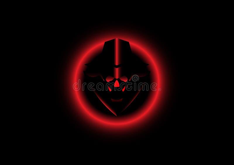 Logo Hacker Secret Isolated Or Black Background Stock Vector Illustration Of Mafia Icon 102116955