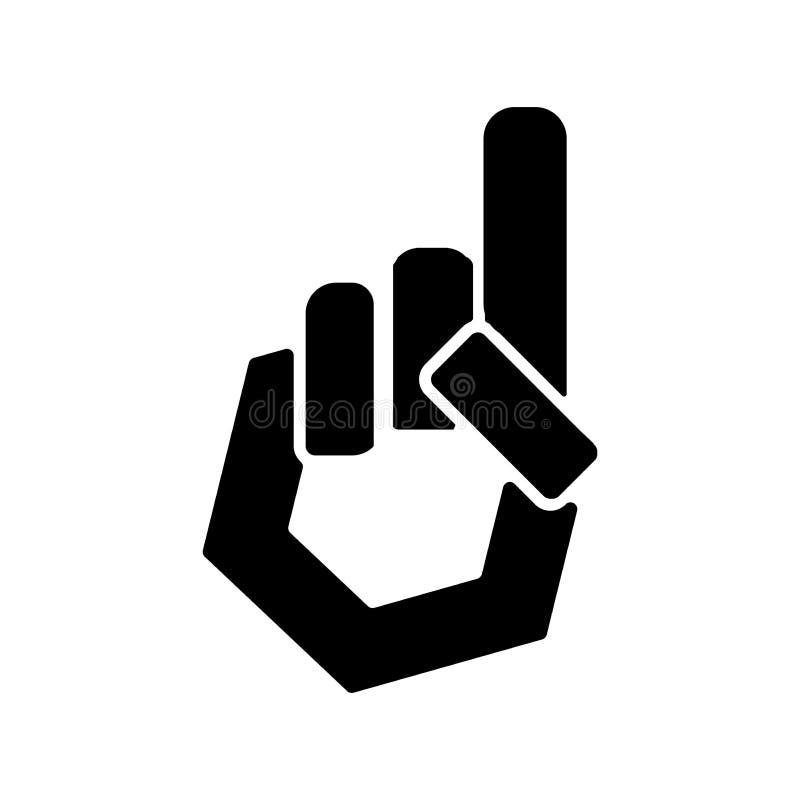 Logo Hand del vector del icono del tauhid ilustración del vector