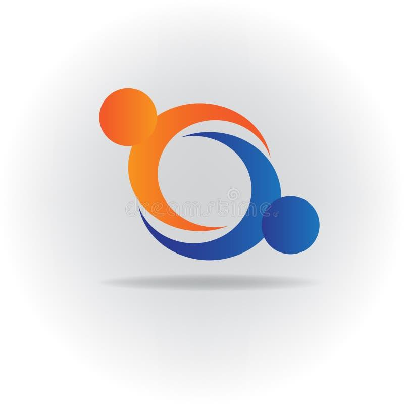 Logo handshake business people icon vector image stock illustration