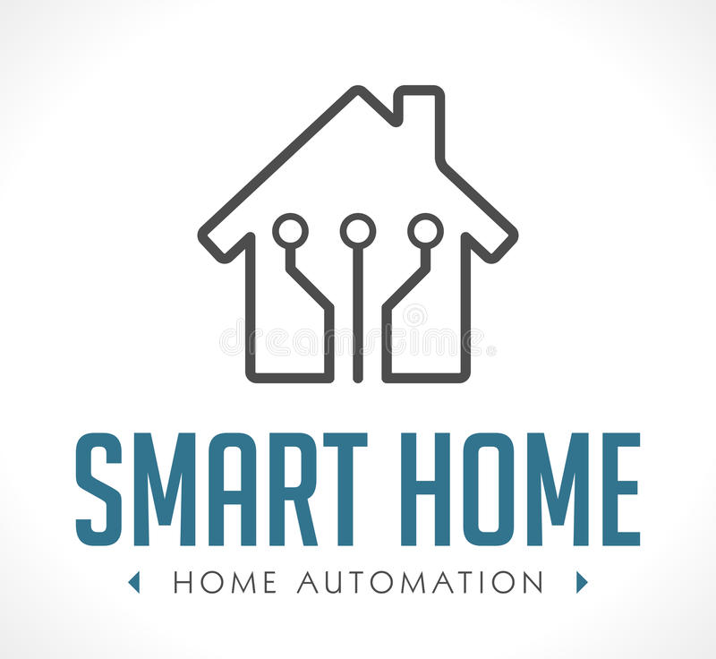 Logo - Hausautomation lizenzfreie abbildung