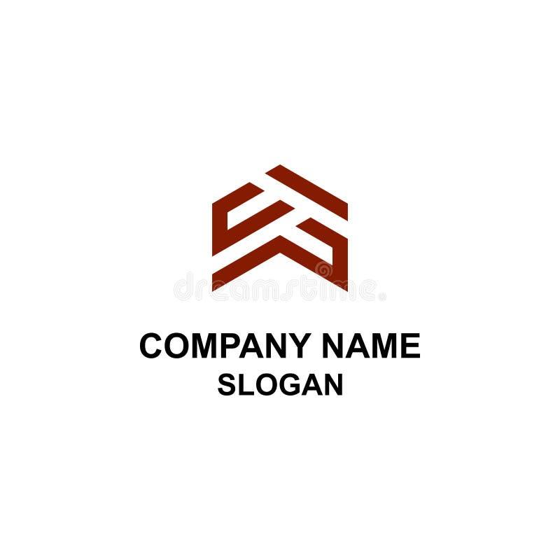 Logo HAUT de flèche d'initiale de lettre illustration de vecteur