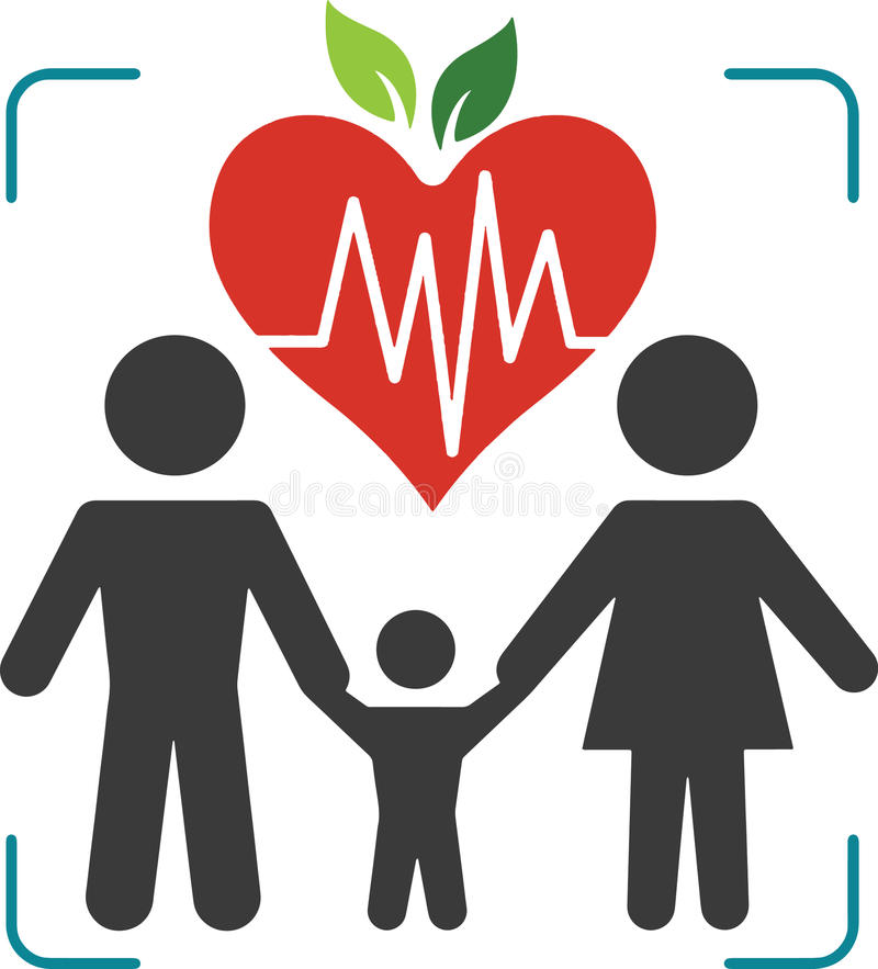 Logo Health Family stockbild