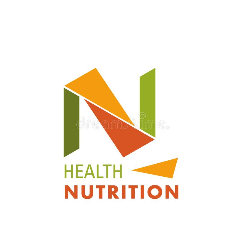 Logo for health nutrition company royalty free illustration