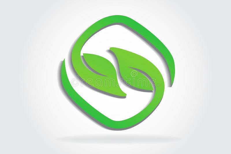 Logo healthy and nature leafs vector illustration