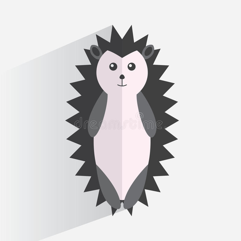 Logo hedgehog flat design vector illustration