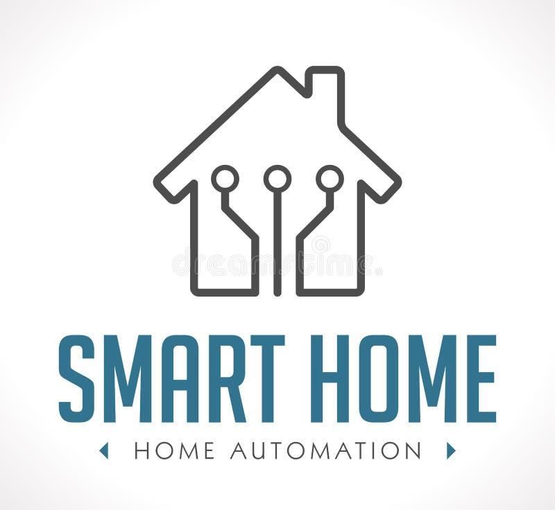 Logo - hem- automation royaltyfri illustrationer