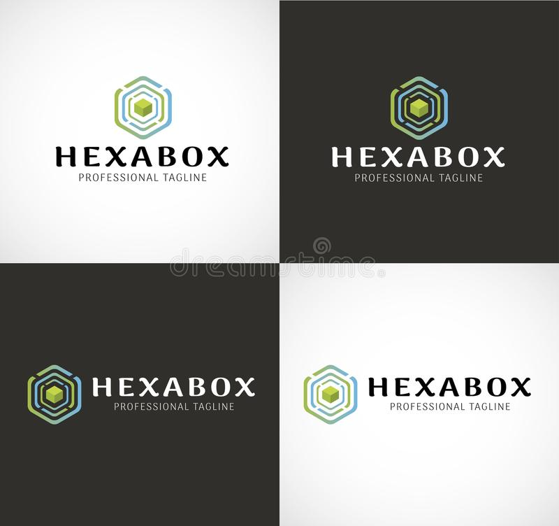 Download Logo Hexa della scatola illustrazione vettoriale. Illustrazione di scheda - 117980858