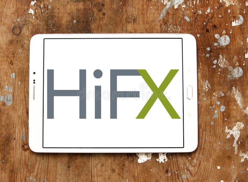 HiFX foreign exchange broker logo stock photo