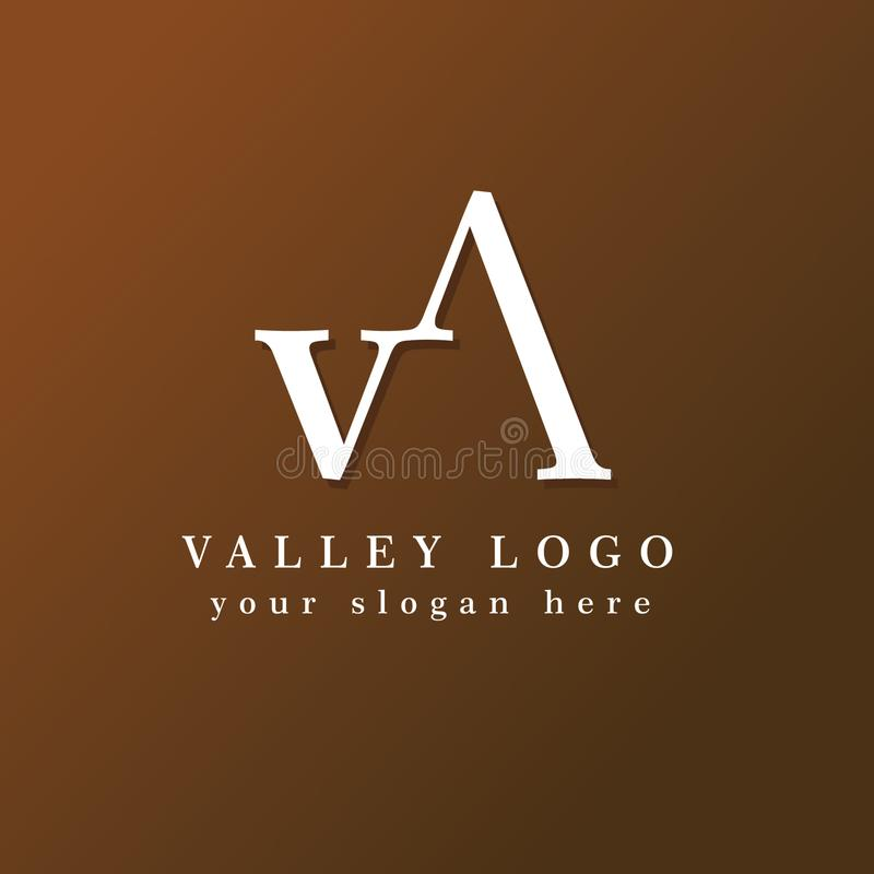 Valley Simple Minimalist Logo Conceot vector illustration