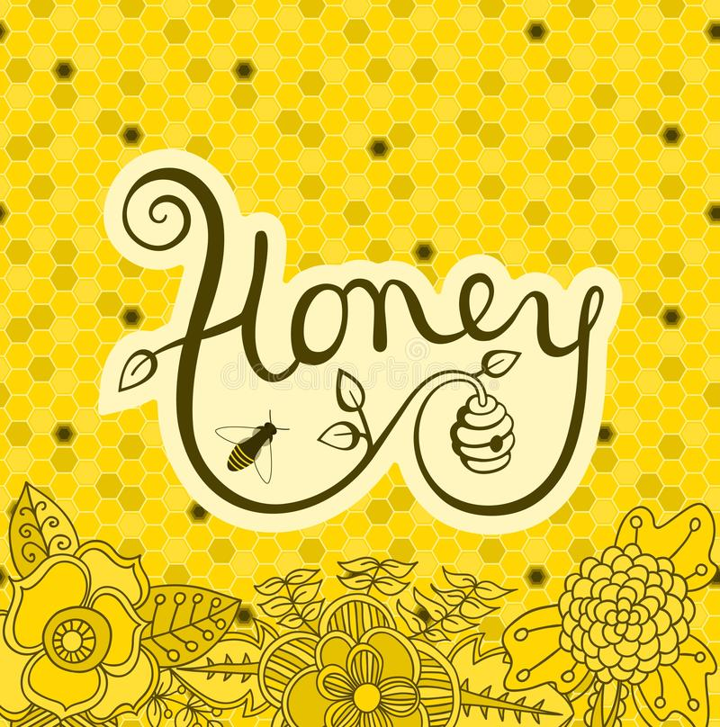 Logo Honey illustration stock