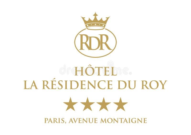 Logo Hotel La Residence Du Roy ilustração stock