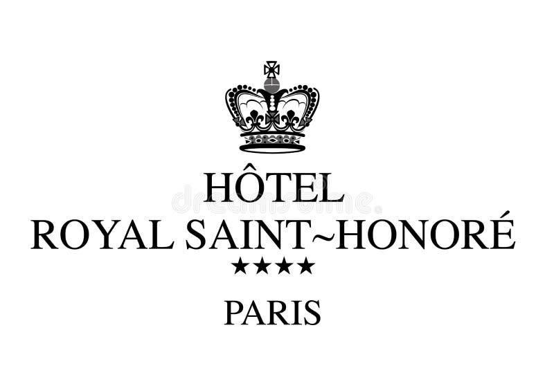 Logo Hotel Royal Saint Honore vektor illustrationer