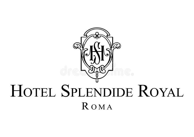 Logo Hotel Splendide Royal royaltyfri illustrationer