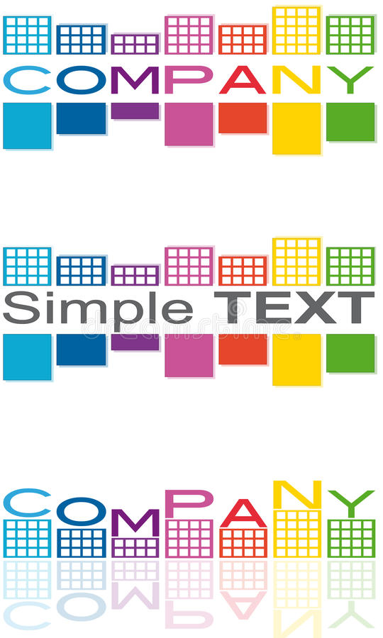 Logo House Company Stock Photo