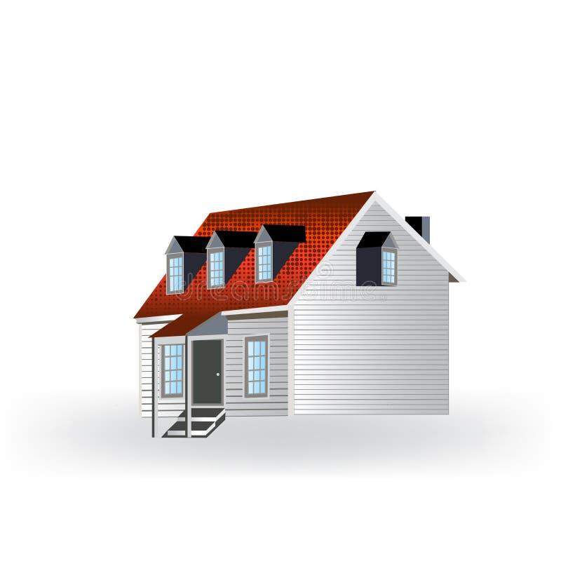 Logo house isolated icon vector illustration design id card vector image illustration royalty free illustration