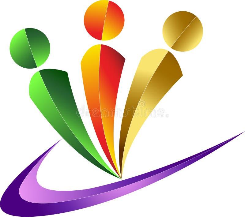 Logo humain illustration libre de droits