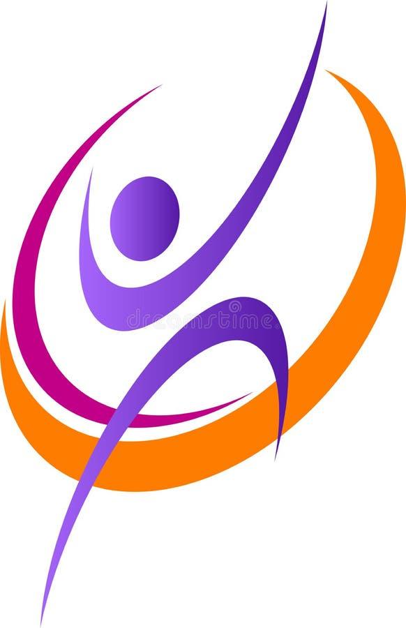 Logo humain illustration stock