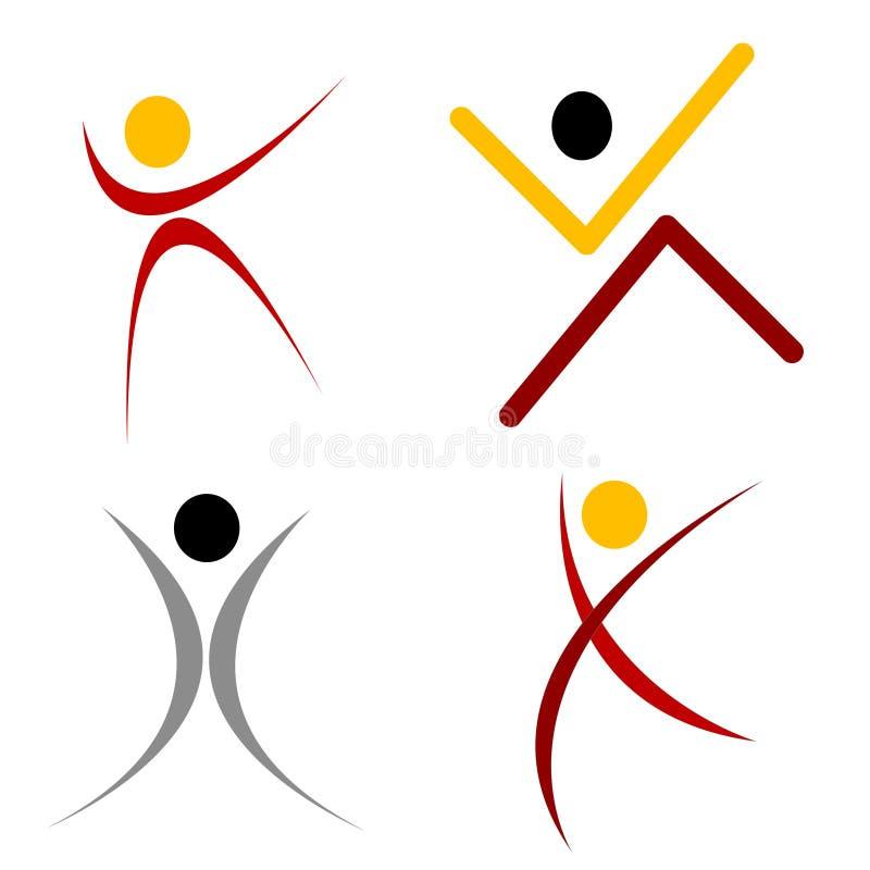 Logo humain de forme illustration stock