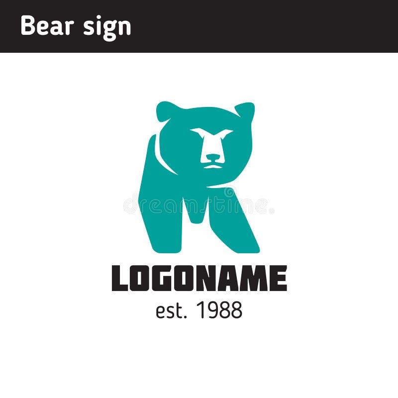 Logo i form av en björn royaltyfri illustrationer