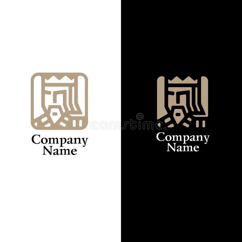 Logo i form av en konung vektor illustrationer