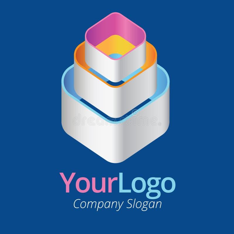 Logo i graficzny projekt royalty ilustracja