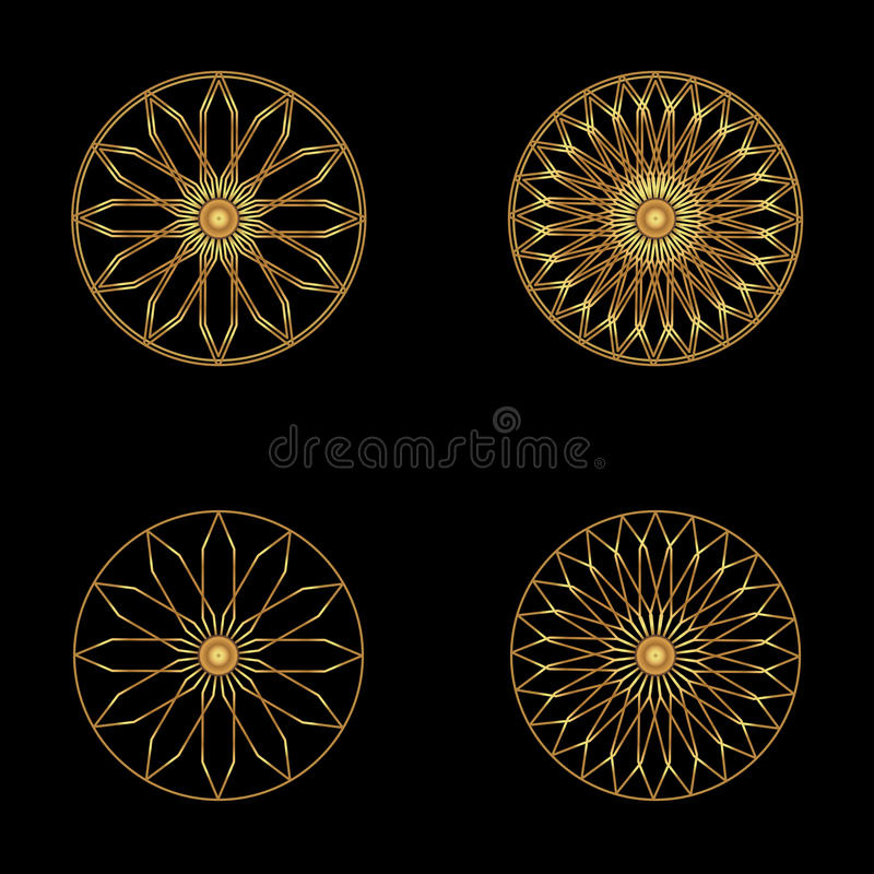 Logo Icon Abstract Symbol Vector Illustrationgold Flower Symbol On