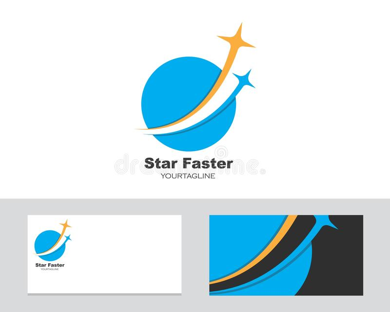 logo,icon company card fast star vector illustration stock illustration