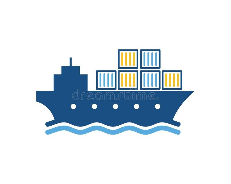 Logo Icon Design logístico de envio ilustração stock