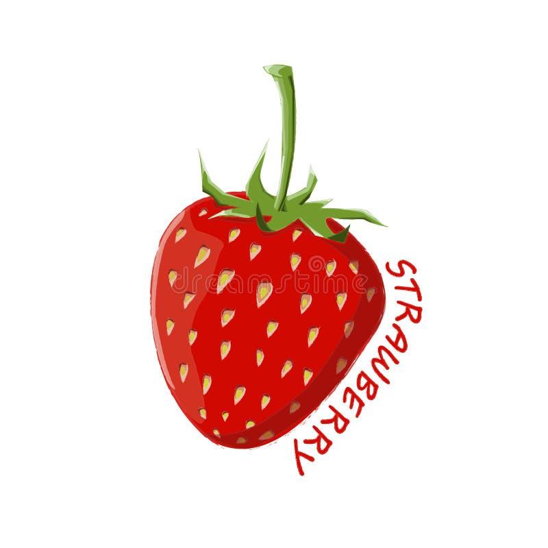 Logo Icon Design Strawberry Farm ilustração stock