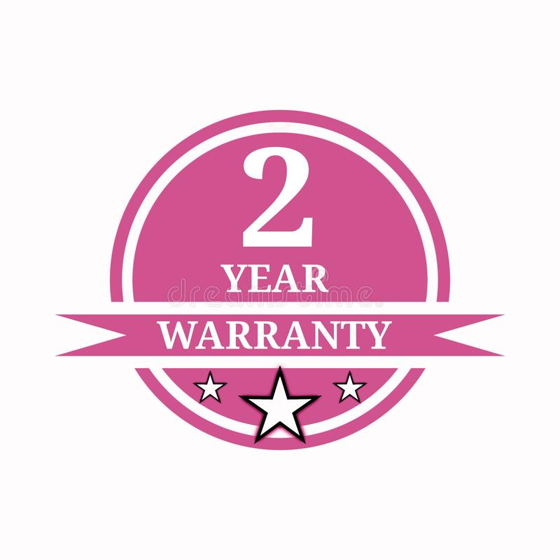2 year warranty stock photography