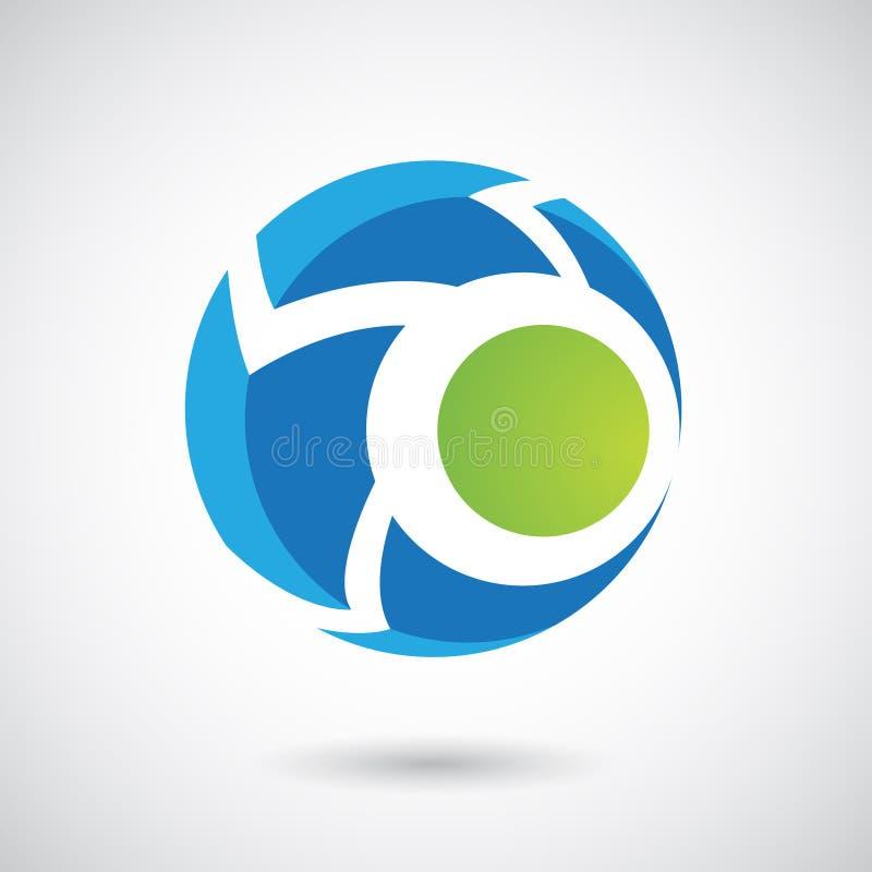 Logo Icon van een Rond gemaakte Pijl Vectorillustratie royalty-vrije illustratie