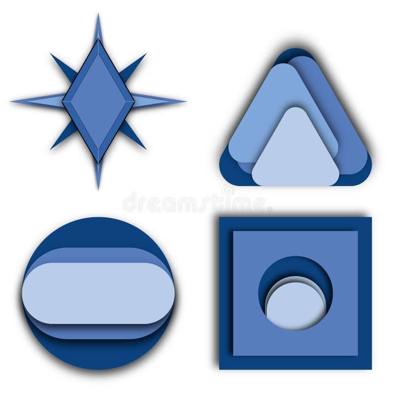 Logo Ideas coloreado azul múltiple libre illustration