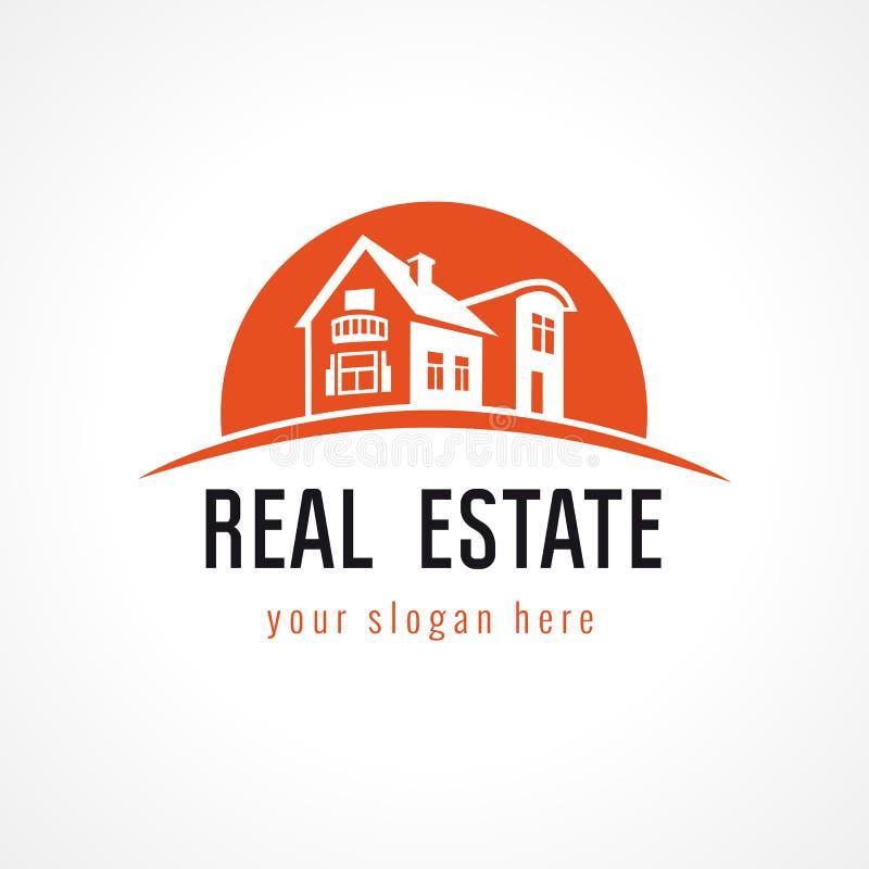 Logo immobilier de vecteur illustration libre de droits