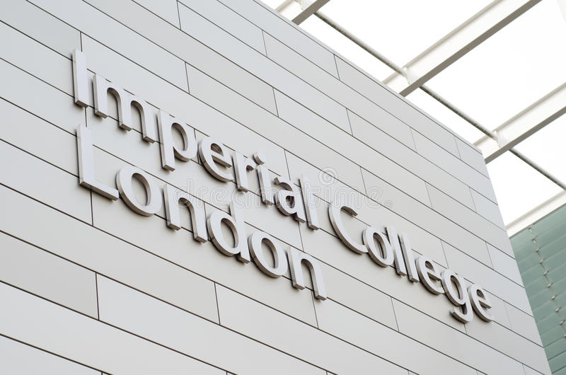 Logo imperiale di Londra dell'istituto universitario fotografie stock