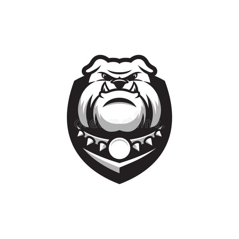 Logo impressionnant de bouledogue prêt à employer illustration stock