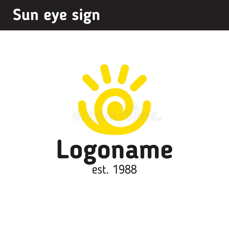 Free Logo In The Form Of The Sun, Eye Associations Or A Man With Arms Stock Photo - 109150580