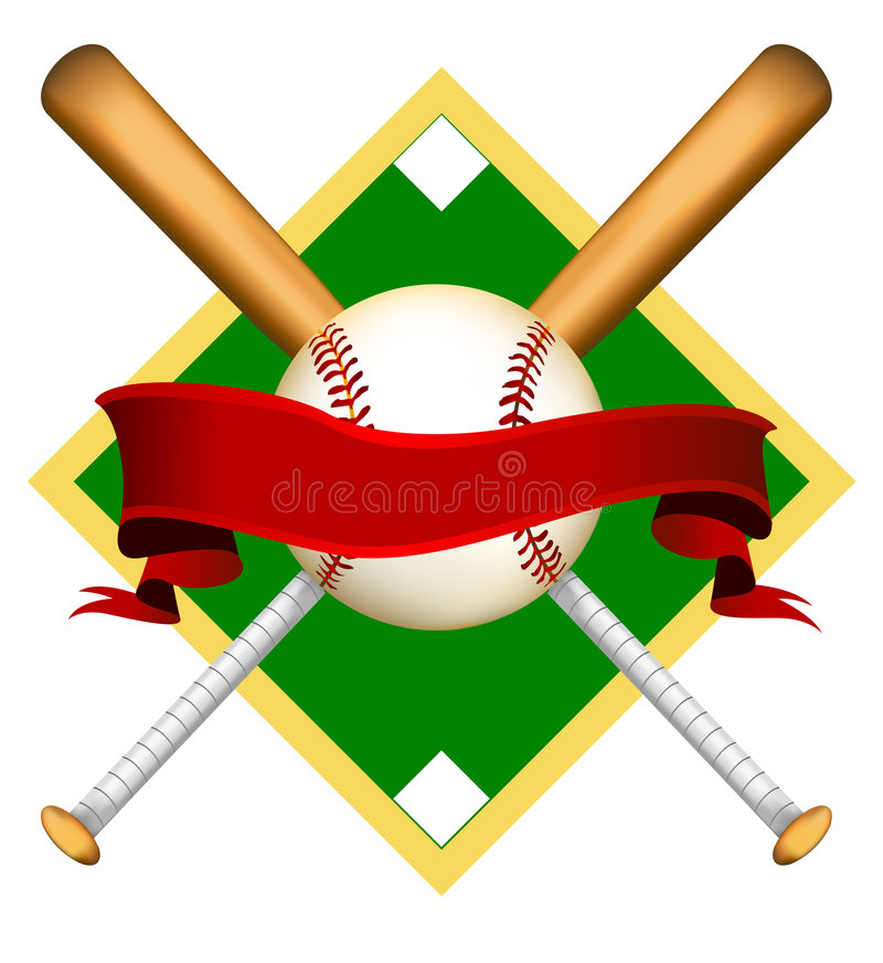 Logo initial de base-ball illustration libre de droits