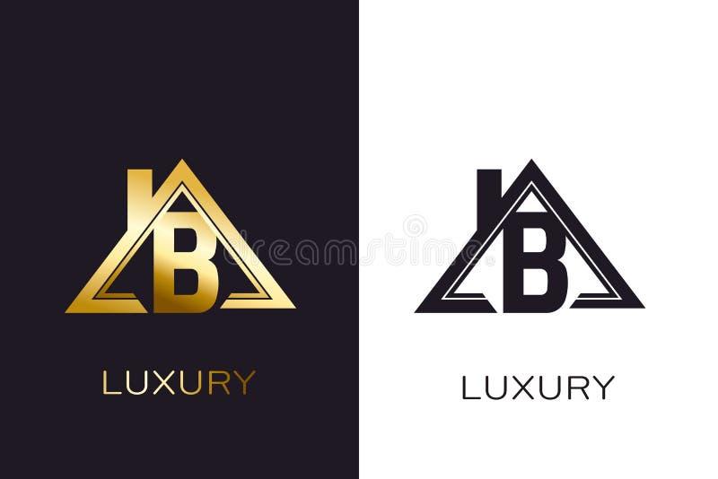 Logo initial de maison de Real Estate B pour des affaires illustration de vecteur